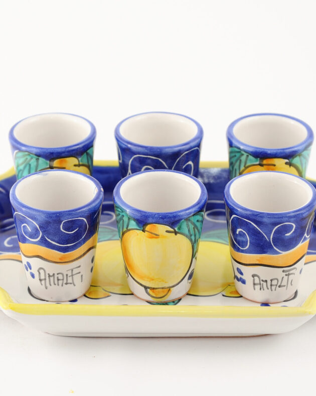 set blu tray servizio wedding amalfi coast ceramic
