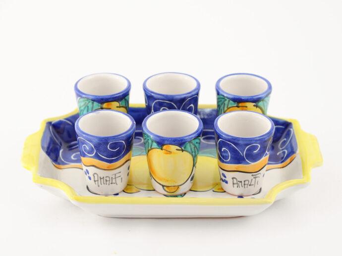 set blu tray servizio wedding amalfi coast ceramic
